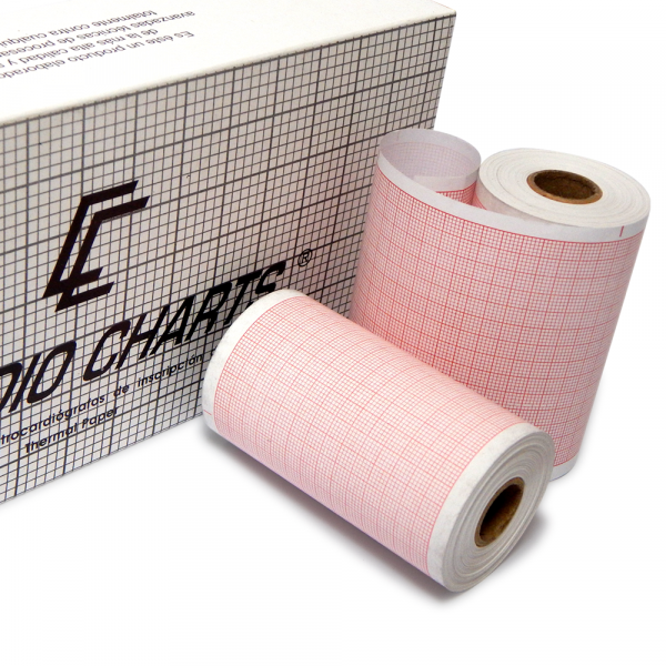 Papel Termosensible ECG 80mm x 25mts - Caja x6 rollos